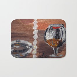"Thumbnail of the painting ""White beads"" #1 Bath Mat"