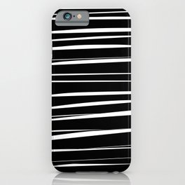 Black and White Abstract Stripes iPhone Case