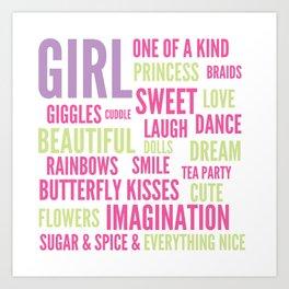 Girls Sugar and Spice Art Print