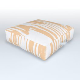 Modern Coral Stripes IV Outdoor Floor Cushion
