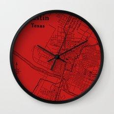 Vintage Austin Red Wall Clock
