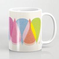 bonjour Mugs featuring Bonjour by Mauricio Cosío