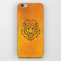 courage iPhone & iPod Skins featuring Courage by Alex Ink