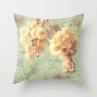 postcard Throw Pillows featuring Postcard by AlejandraClick