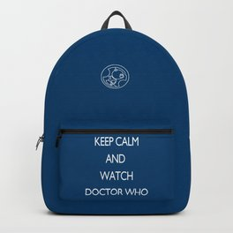 KEEP CALM and watch Doctor Who Backpack