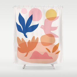 Abstraction_Floral_Nature_Wonderful_Day_002 Shower Curtain