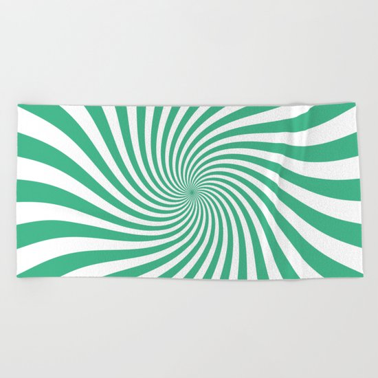Swirl (Mint/White) Beach Towel