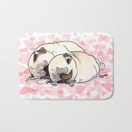 Snuggle Pugs Bath Mat