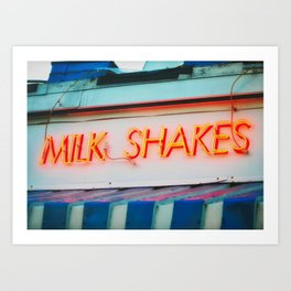 Milk Shakes Art Print