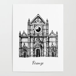 Florence cathedral of Santa Maria del Fiore Poster
