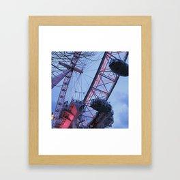 London: Ferris Wheel in Winter Framed Art Print