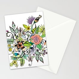Floral White Stationery Cards