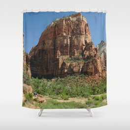 Hiking Zion National park in Utah, USA Shower Curtain