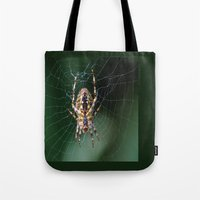 spider Tote Bags featuring Spider by Dora Birgis
