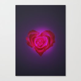 Heart of flower Canvas Print