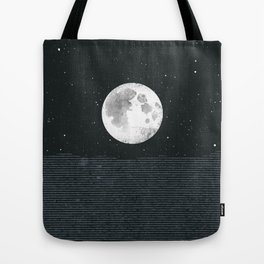 Grey Moonscape Tote Bag