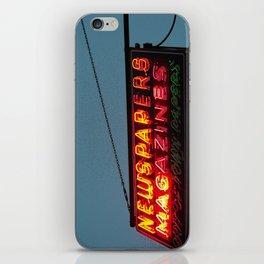 Vintage Neon Newstand Sign ~ Chicago Architecture iPhone Skin