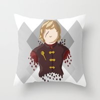lannister Throw Pillows featuring Tyrion Lannister by itsamoose