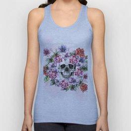 Skull & Flower Unisex Tank Top