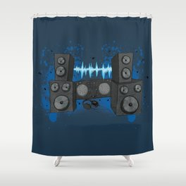 BASSLINE Shower Curtain