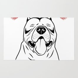 Pit Bull Face Dog American Bully Gift Rug