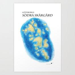 Göteborgs södra skärgård Art Print