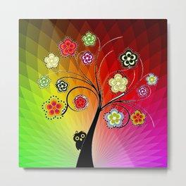 Healing Chakra Tree Metal Print