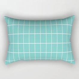 Gorgeous Green Grid Rectangular Pillow