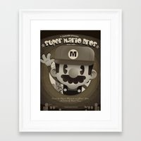 mario bros Framed Art Prints featuring Mario Bros Fan Art by danvinci