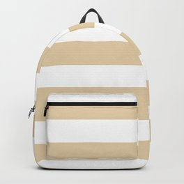 Durian White - solid color - white stripes pattern Backpack