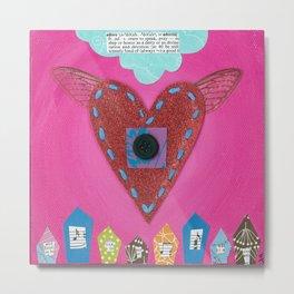 Adore Heart Metal Print