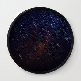 The Galaxy Rains (Color) Wall Clock
