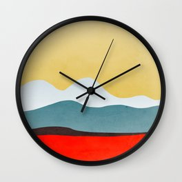 Abstract landscape 2 Wall Clock
