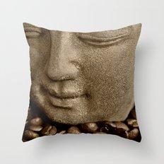 buddha coffee 2 Throw Pillow
