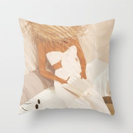 Summer Reading II Throw Pillow