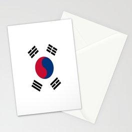 Flag of south korea Stationery Cards