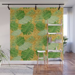 Tropical Leaf Mix IV Wall Mural