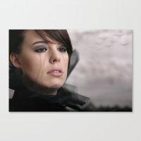 noir Canvas Prints featuring noir by Photoplace