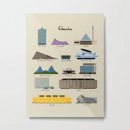 Edmonton Modern Buildings Metal Print