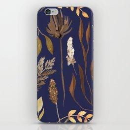 Fall Foliage on Navy iPhone Skin