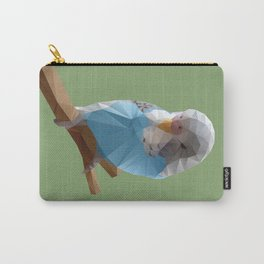 Budgerigar Bird Polygon Art Carry-All Pouch