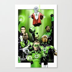 The Green Celtics Corps Canvas Print