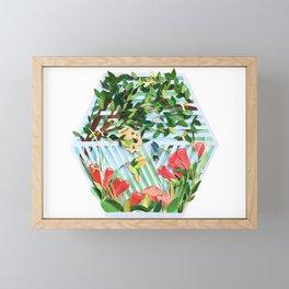 Bird & Bees Flower Tree Framed Mini Art Print