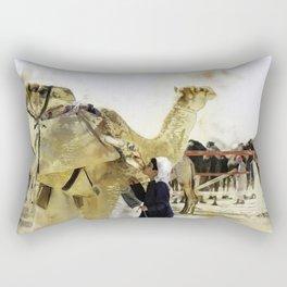 Camel Kisses Rectangular Pillow
