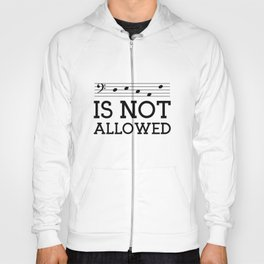 Decaf is not allowed (bass version) Hoody