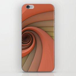 Spiral in Earth Tones iPhone Skin