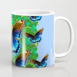 EXOTIC BLUE-BROWN BUTTERFLY ART Coffee Mug