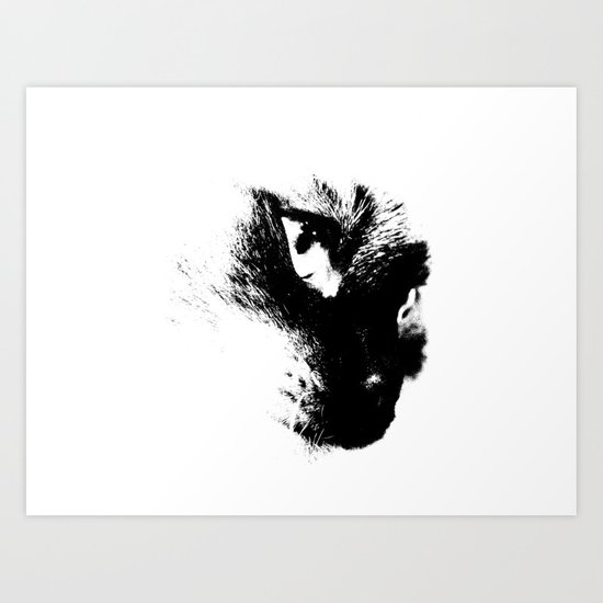 Rorchach Cat Art Print