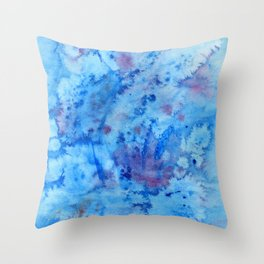 Ocean Fantasy Watercolor Throw Pillow