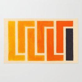 Orange & Black Geometric Pattern Rug